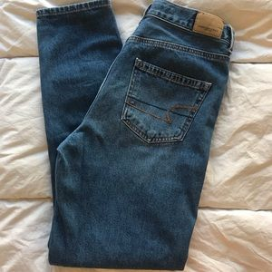 Pants - American Eagle dark wash mom/boyfriend jeans